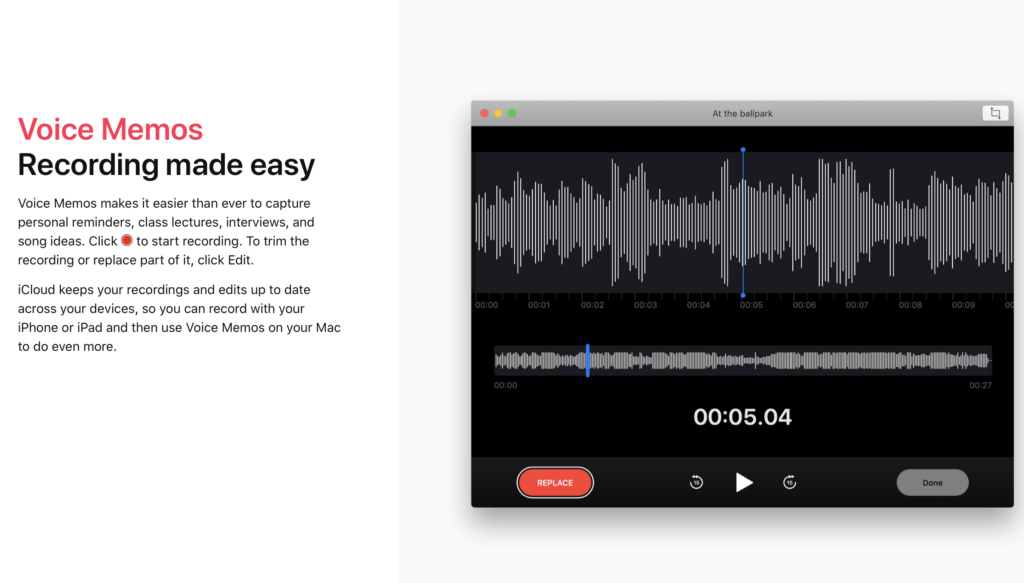 Voice Memos, easy and editable