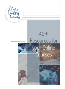 40+ resources for your online courses