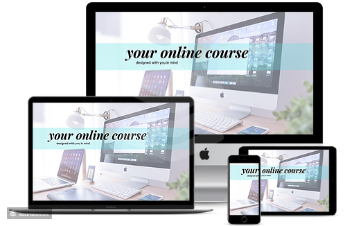 Various Screens with online course display