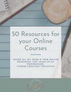 50+Resources for your Online Courses