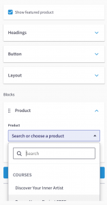 Thinkific Sales Page Example Choose a Product